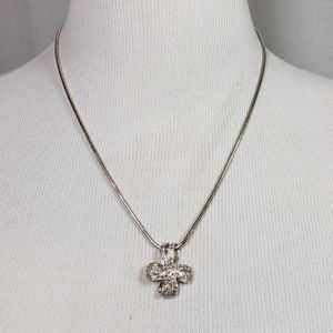 Silver .925 Necklace with Crystal Cross Pendant